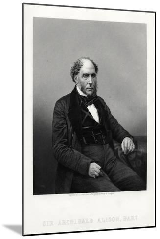 Archibald Alison, Scottish Didactic and Philosophical Writer, C1880-DJ Pound-Mounted Giclee Print