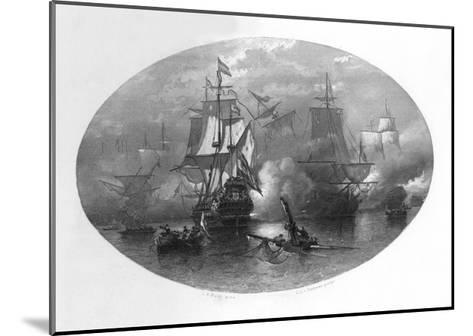 The Naval Battle of Sole Bay, 1672-CL van Kesteren-Mounted Giclee Print