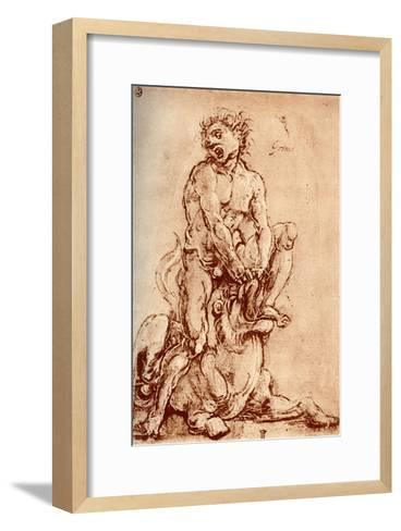 Hercules Killing the Lion, 1913-Cosimo Tura-Framed Art Print