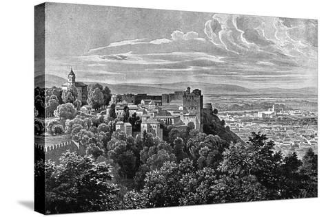 The Alhambra, Granada, Spain, 1902- Daudet-Stretched Canvas Print