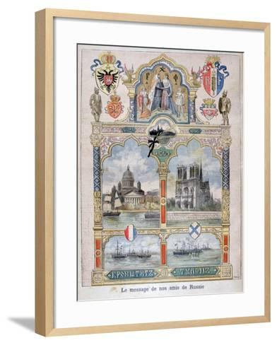 Message from Our Russian Friends, 1896-F Meaulle-Framed Art Print