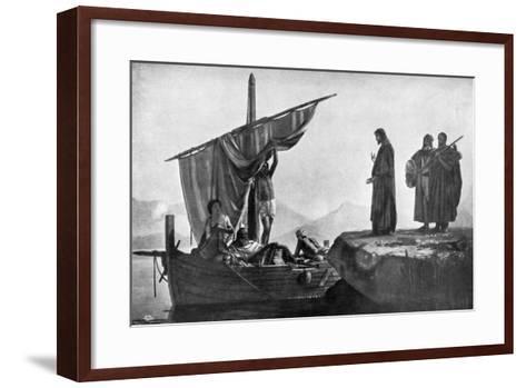 Christ Calling the Apostles James and John, 1926-Edward Armitage-Framed Art Print
