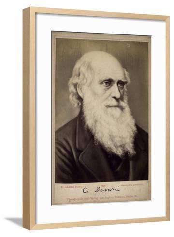 Charles Darwin, British Naturalist, C1860S-C1870S-Ernst Hader-Framed Art Print