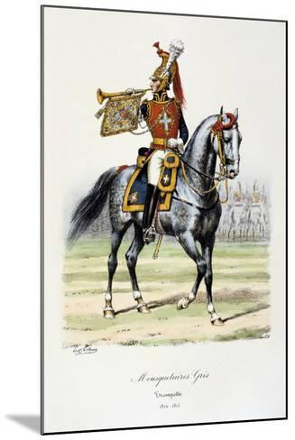 Mousquetaires Gris, Trumpeter, 1814-15-Eugene Titeux-Mounted Giclee Print