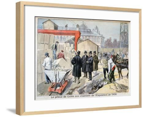 The Prince of Wales Visiting the Building Sites for the Exposition ...