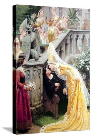 Alain Chartier, 1903-Edmund Blair Leighton-Stretched Canvas Print