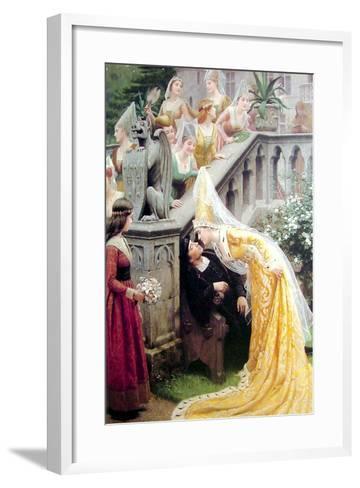 Alain Chartier, 1903-Edmund Blair Leighton-Framed Art Print