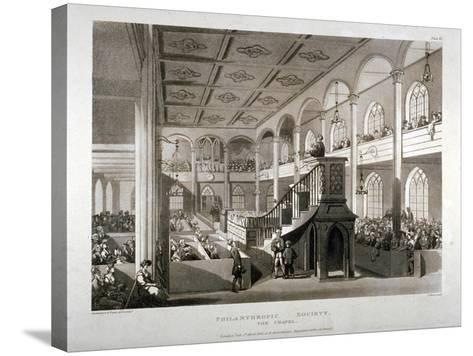 Philanthropic Society Institution Chapel, London Road, Southwark, London, 1809-Edward Blackburn-Stretched Canvas Print