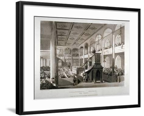 Philanthropic Society Institution Chapel, London Road, Southwark, London, 1809-Edward Blackburn-Framed Art Print
