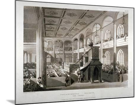 Philanthropic Society Institution Chapel, London Road, Southwark, London, 1809-Edward Blackburn-Mounted Giclee Print
