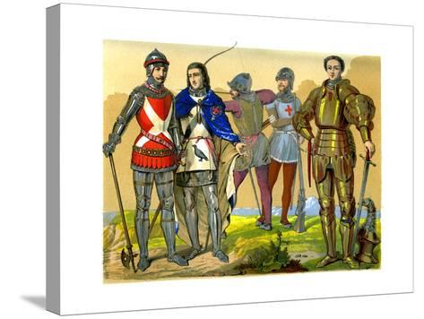 English Battle Dress, 15th-16th Century-Edward May-Stretched Canvas Print