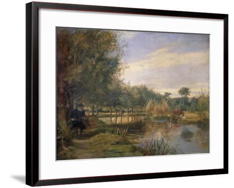 Izaak Walton Fishing, 1850-EM Ward-Framed Art Print