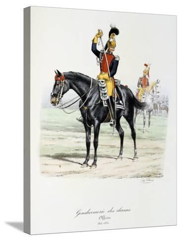 Gendarmerie Des Chasses, 1815-30-Eugene Titeux-Stretched Canvas Print