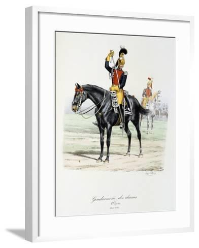 Gendarmerie Des Chasses, 1815-30-Eugene Titeux-Framed Art Print