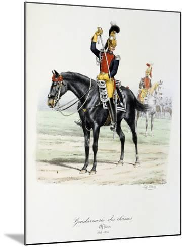Gendarmerie Des Chasses, 1815-30-Eugene Titeux-Mounted Giclee Print