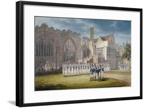 Leathersellers' Hall, and the Church of St Helen, Bishopsgate, City of London, 1792-Edward Dayes-Framed Art Print