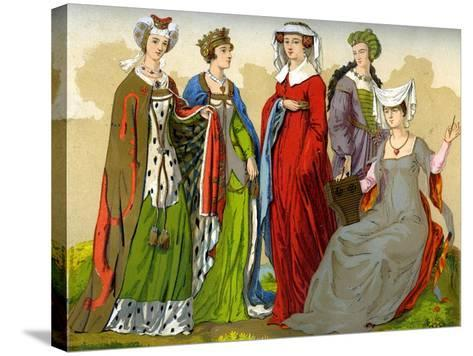 English Noblewomen, 15th-16th Century-Edward May-Stretched Canvas Print