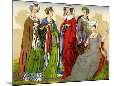 English Noblewomen, 15th-16th Century-Edward May-Mounted Giclee Print