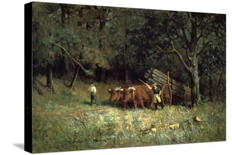 Driving Home the Cows, 1881-Edward Mitchell Bannister-Stretched Canvas Print