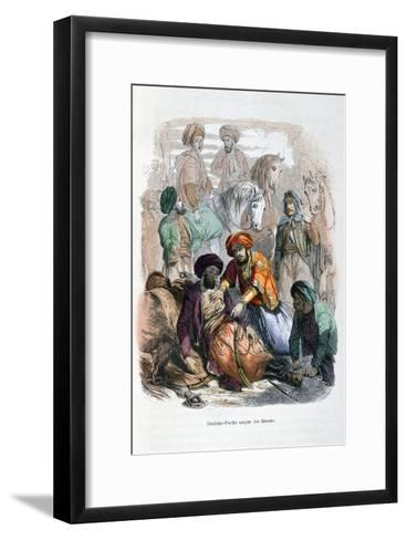 Ibrahim Pasha Looking after the Wounded, 1847- Etherington-Framed Art Print