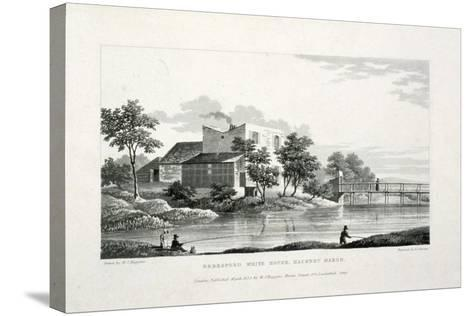 View of Beresford White House, Hackney Marsh, Hackney, London, 1830-Edward Duncan-Stretched Canvas Print