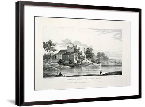 View of Beresford White House, Hackney Marsh, Hackney, London, 1830-Edward Duncan-Framed Art Print