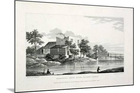 View of Beresford White House, Hackney Marsh, Hackney, London, 1830-Edward Duncan-Mounted Giclee Print