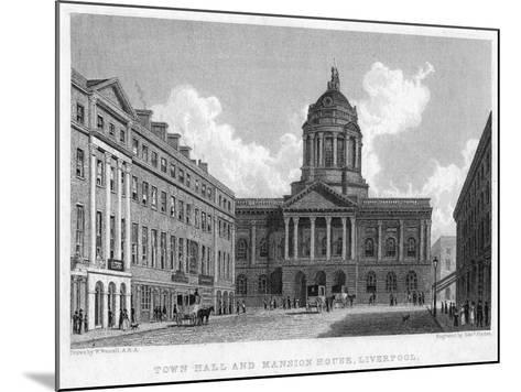 Town Hall and Mansion House, Liverpool, 19th Century-Edward Finden-Mounted Giclee Print
