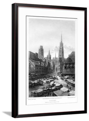 Rouen, from La Haute Vieille Tour, 1820-Edward Finden-Framed Art Print