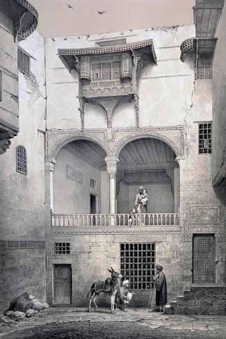 House of Beyt El-Tcheleby, 19th Century-Emile Prisse d'Avennes-Stretched Canvas Print