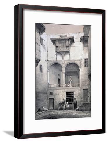House of Beyt El-Tcheleby, 19th Century-Emile Prisse d'Avennes-Framed Art Print