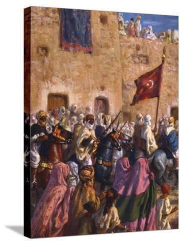 Le Depart Pour El Djihad Ou La Guerre Sainte' ('Departure for the Jihad or Holy War), 1918-Etienne Dinet-Stretched Canvas Print