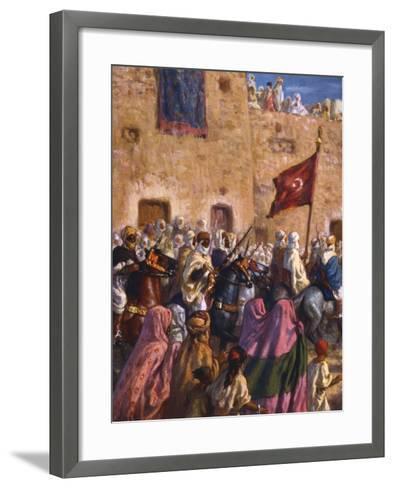 Le Depart Pour El Djihad Ou La Guerre Sainte' ('Departure for the Jihad or Holy War), 1918-Etienne Dinet-Framed Art Print