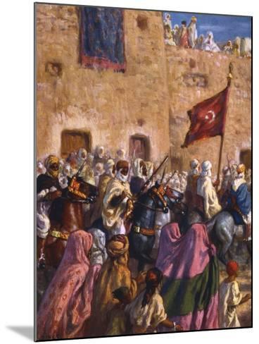 Le Depart Pour El Djihad Ou La Guerre Sainte' ('Departure for the Jihad or Holy War), 1918-Etienne Dinet-Mounted Giclee Print