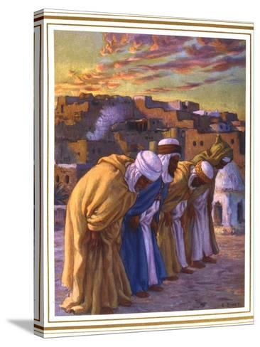 El Rekaa Ou L'Inclination (La Prier) (Prayer of Inclinatio), 1918-Etienne Dinet-Stretched Canvas Print