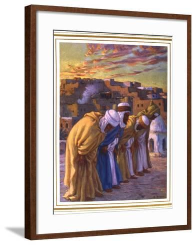 El Rekaa Ou L'Inclination (La Prier) (Prayer of Inclinatio), 1918-Etienne Dinet-Framed Art Print