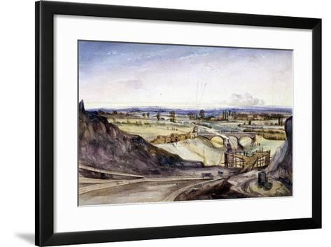 General View of Hampstead, London, 1837-Edmund Marks-Framed Art Print