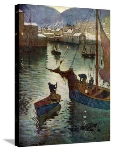 The Harbour, Polperro, Cornwall, 1924-1926-Edward Frederick Ertz-Stretched Canvas Print