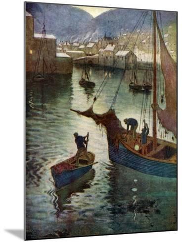 The Harbour, Polperro, Cornwall, 1924-1926-Edward Frederick Ertz-Mounted Giclee Print