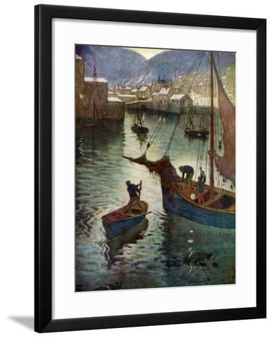 The Harbour, Polperro, Cornwall, 1924-1926-Edward Frederick Ertz-Framed Art Print