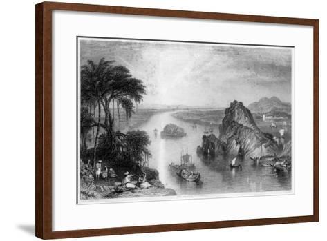 Rocks at Colgong on the Ganges, India, 1838-Edward Goodall-Framed Art Print