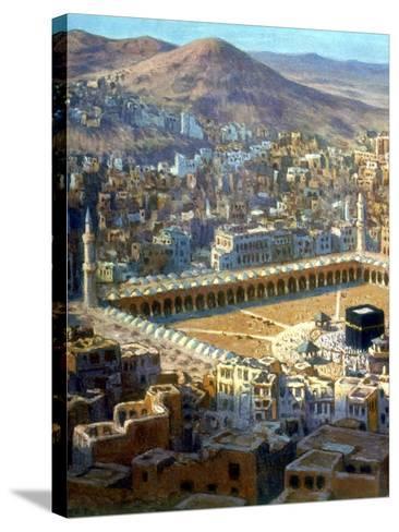 View of Mecca, from La Vie De Mohammed, Prophete D'Allah, C1880-C1920-Etienne Dinet-Stretched Canvas Print