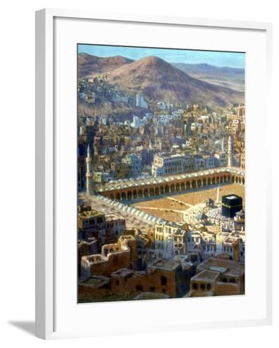 View of Mecca, from La Vie De Mohammed, Prophete D'Allah, C1880-C1920-Etienne Dinet-Framed Art Print