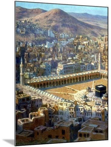 View of Mecca, from La Vie De Mohammed, Prophete D'Allah, C1880-C1920-Etienne Dinet-Mounted Giclee Print