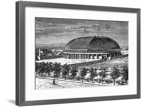 Tabernacle of the Grand Temple of the Mormons, USA, 19th Century-E Therond-Framed Art Print
