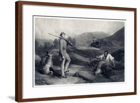 Prince Albert Stag Hunting, Mid-19th Century-Edwin Henry Landseer-Framed Art Print