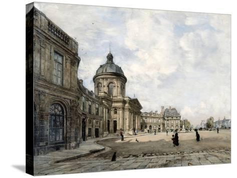 Institute of France, Paris, 1887-Emmanuel Lansyer-Stretched Canvas Print