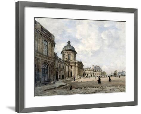 Institute of France, Paris, 1887-Emmanuel Lansyer-Framed Art Print