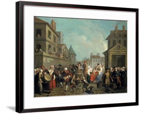 Carnival in the Streets of Paris, 1757-Etienne Jeaurat-Framed Art Print