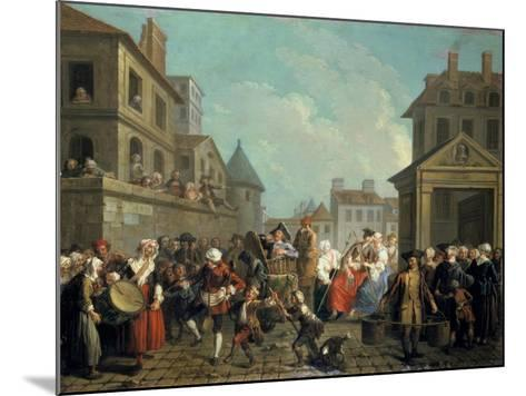 Carnival in the Streets of Paris, 1757-Etienne Jeaurat-Mounted Giclee Print